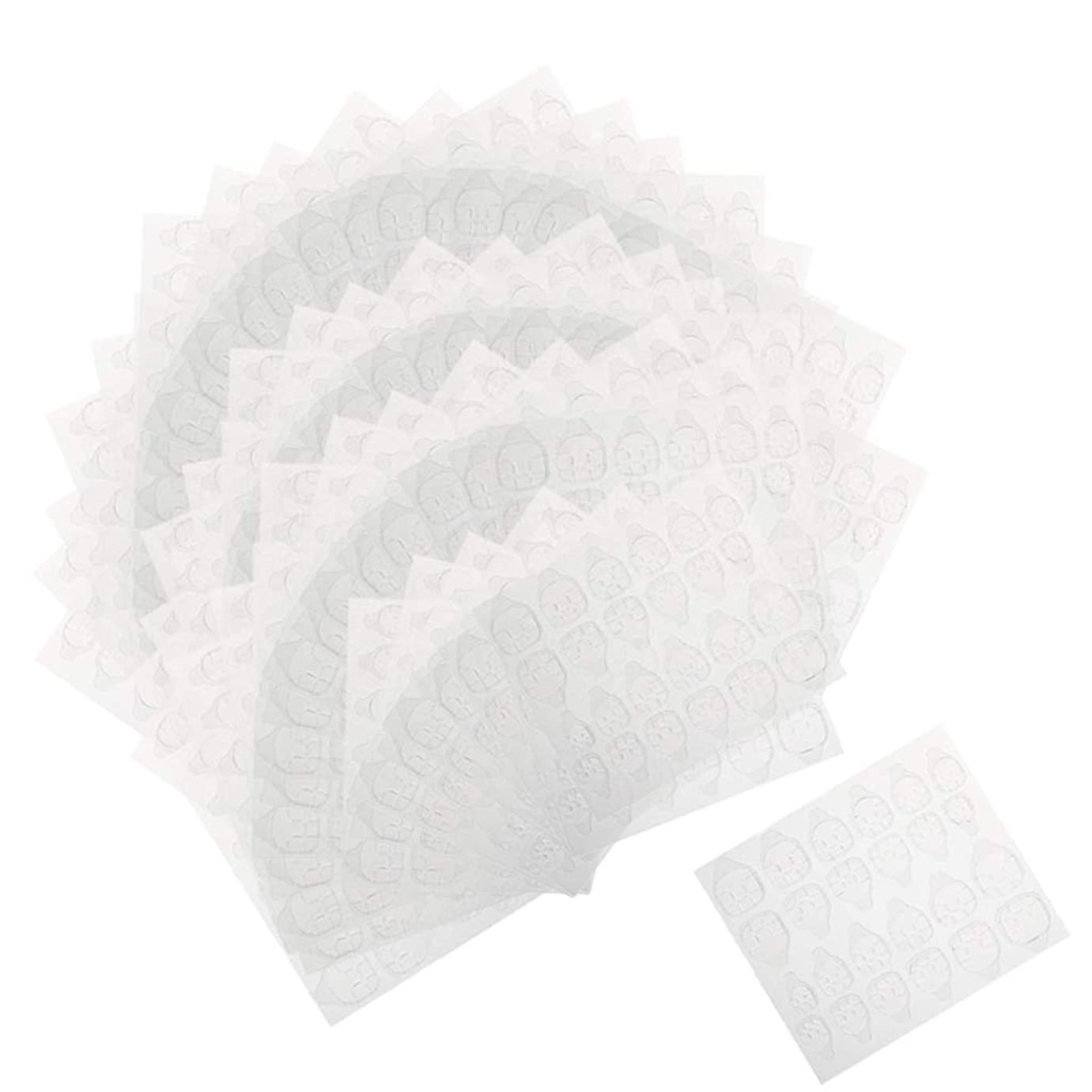 免疫記念繊細Perfeclan ネイルタブ ネイル接着剤ステッカー マニキュアタブ 両面接着 透明 両面テープ 約240ピースセット