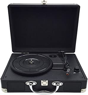 WHSS Tourne-disque vinyle, gramophone rétro, haut-parleur Bluetooth créatif, coffret noir pour tourne-disque (350 x 255 x ...