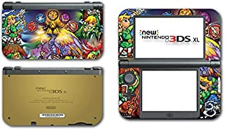 Legend of Zelda Link Wind Waker Stained Glass Video Game Vinyl Decal Skin Sticker Cover for the New Nintendo 3DS XL LL 2015 System Console by Vinyl Skin Designs