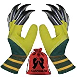 Garden Genie Gloves with Fingertips Claw Gardening Gloves for Digging and Planting Great Gardening Gifts for Gardener (Green 1 Pairs)