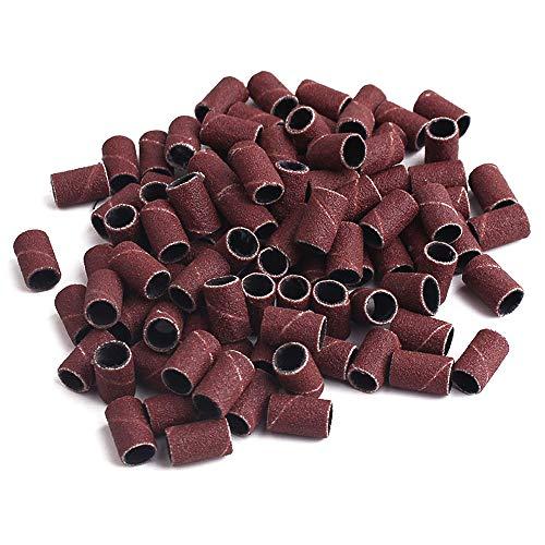 Vegena Schleifkappen Drill Sanding Bands, 150 Stück Schleifhülsen Schleifbänder 180