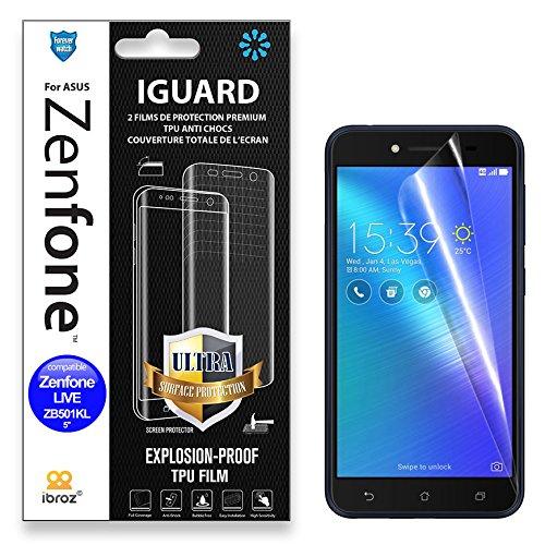 ASUS Zenfone Live ZB501KL - 2 pellicole protettive per schermo integrale Full Cover TPU 4H - Auto Repair