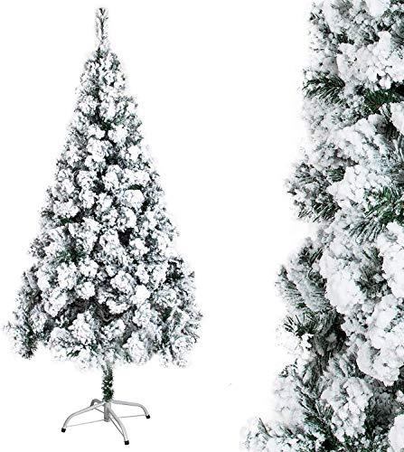 Natale Albero Verde INNEVATO LAPPONIA Abete Artificiale 210 CM Pino 705 Punte Rami Neve FOLTO