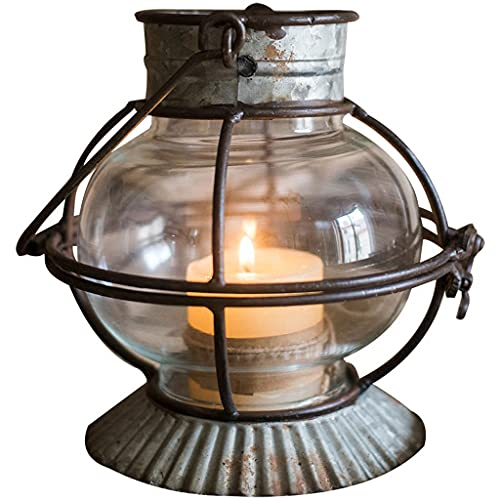 hongbanlemp Candlestick Holders Retro Wrought Iron Candle Holder Windproof Lantern Small Lantern Decoration Ornaments Floral Pastoral Groceries Send Candles Party Decorations (Color : A)