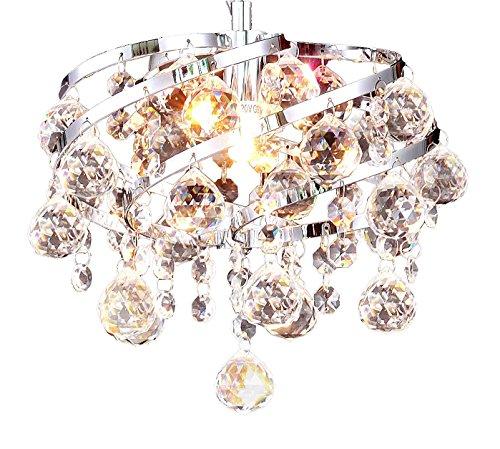 OXANA- Ø24 cm LED Kristall Hängelampe Deckenleuchte Leuchte Lüster Kronleuchter