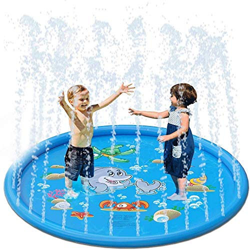 Dirgee Sprinkler Splash Play Mat for Kids, Sprinkler Pad para niños, 67'Niños Niños al Aire Libre Sprinkler Sprinkler Toys for Childring Boys Girls Boys (Size : 170cm/67inch)