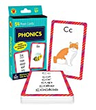 Carson Dellosa Phonics Flash Cards—PreK-Grade 1, Sound Recognition Skills With Vowels, Consonants, and Common Blends, Double-Sided Cards, Ages 4+ (54 pc) (Brighter Child Flash Cards)