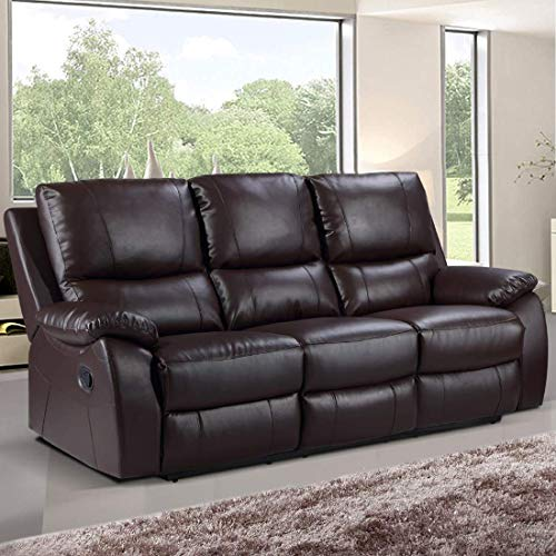 Furny 3 Seater Leatherette Recliner Sofa