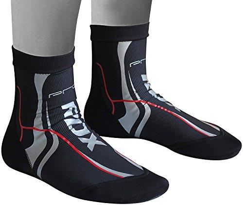 RDX Knöchelbandage Elastische Fußbandage Knöchelschutz Kickboxen Fußgelenkbandagen Knöchelschoner, Gr. M