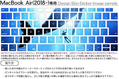 igstickerMacBookAir13inch2018専用キーボード用スキンシールキートップステッカーA1932Appleマックブックエアノートパソコンアクセサリー保護012663クジラシルエットダイビング