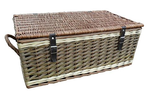 Red Hamper 66cm Three Tone Empty Picnic Basket