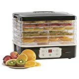 Electric Food Dehydrator Tiered 5 Tray with Adjustable Temperature Control, 240W by Cooks Professional (Black)