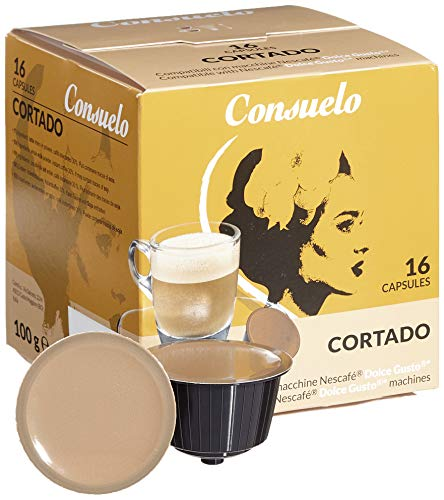 Consuelo Dolce Gusto* Kompatible Kapseln – Cortado, 96 Kapseln (16 x 6)