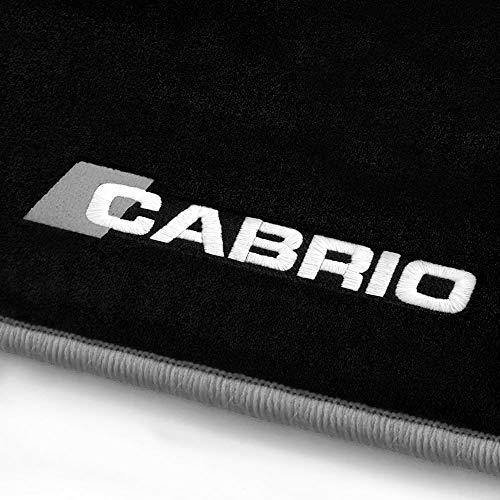 online-fussmatten Cabrio_15207 Fein-Velours Autoteppiche Stick Cabrio Stick- und Randfarbe Silbergrau - Fahrzeugtyp in der Artikelbeschreibung beachten!