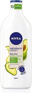 NIVEA Naturally Good, Natural Avocado Body Lotion, For Normal to Dry Skin, No Parabens, 98% Natural Origin Ingredients, 35...