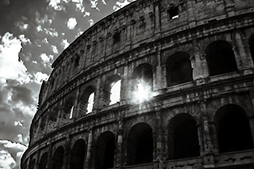 Sun Through The Colosseum Rome Italy Amphitheatre Artistic Fine Art Photograph Cool Huge Large Giant Poster Art 54x36x