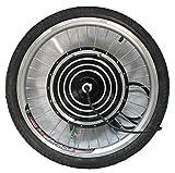 HYLH Bicicleta eléctrica 24/36 / 48V 500W 20'Rueda Delantera Conducción Sin escobillas Motor sin buje Motor eBike
