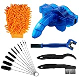 rorecay Bike Chain Cleaner Set: Bicycle Tools Kits Set with Sprocket Scraper Repair Machine Brushes Mitt Clean Gear for...