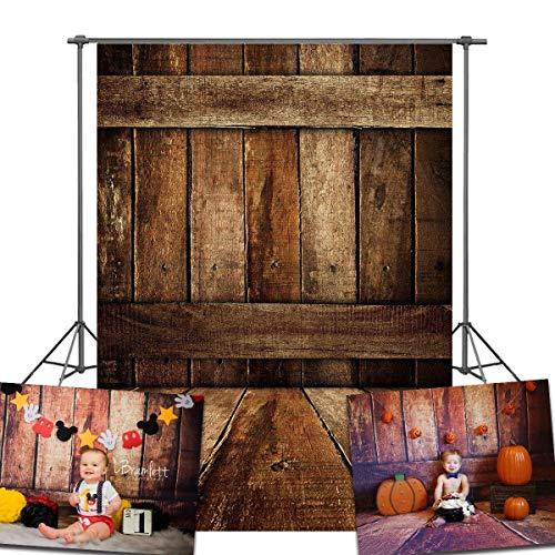 DANIU Photo Background for Baby Wooden Floor Photography Backdrops Suitable for Children Art Studio Vinyl 5x7FT QX508