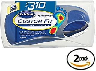 Dr. Scholl's Custom Fit Orthotics CF 310 2-Pack Shoe Sole Insole Inserts