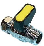 1,27 cm x 15 mm insertar como Mini palanca Gas válvula de bola