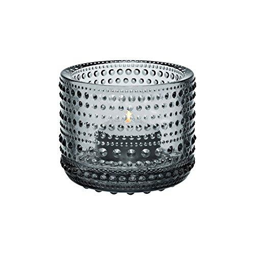 """Teelichter/ Kerzenleuchter """"Kastehelmi"""" von Oiva Toikka - Verkauf durch Iittala, glas, grau, 6,4 cm"""