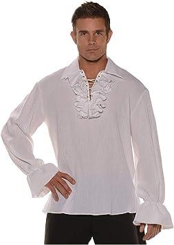 Horror-Shop Camisa Pirata con Volantes y Cordones One Size ...