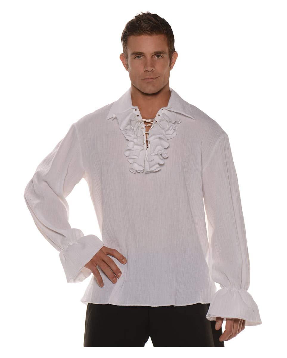 Horror-Shop Camisa Pirata con Volantes y Cordones One Size: Amazon.es: Juguetes y juegos