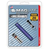 Maglite Solitaire Incandescent 1-Cell AAA Flashlight Purple