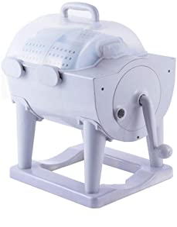 HOUSEHOLD Lavadora de Tambor Manual No Eléctrica Portátil, Deshidratación Manual de La Lavadora de Ropa, Secadora Giratori...