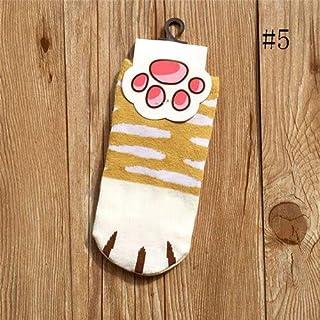 Calcetines Tobilleros Cortos de algodón elástico Patrón Animal Calcetín Divertido