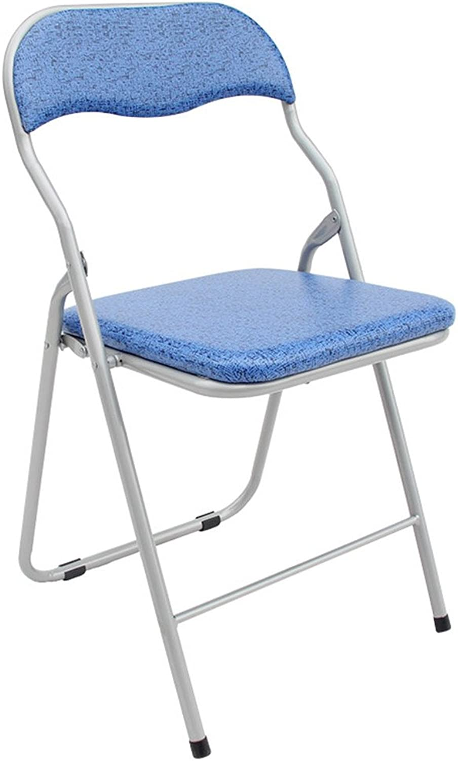 bluee backrest wrought iron folding chair kitchen portable stool 141531 inches