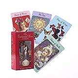 The Enchanted Love Tarot 78 Cards Deck La guía del Amante para el apareamiento de Citas y el Juego de Cartas relacionado Regalos Arcana Beginner Tarot Set