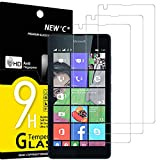 NEW'C Pack of 3, Glass Screen Protector for Nokia Microsoft