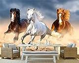 Tapiz de pared panorámico, papel tapiz, muebles para el hogar, pared, fondo de caballo, sala de estar, dormitorio, TV Pared Pintado Papel tapiz 3D Decoración dormitorio sala sofá mural-400cm×280cm
