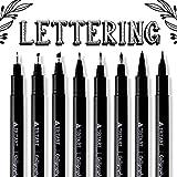 TRITART Kalligraphie Stifte Set – 8 Pinselstifte, Brush Pens mit verschiedenen Stiftspitzen –...