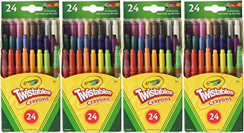 Crayola Mini Twistable Crayons 24 in a Box (Pack of 4) 96 Crayons in Total