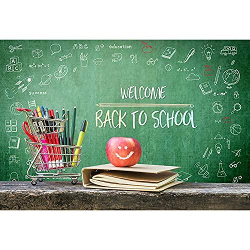 - Sfondo fotografico Benvenuto a scuola per la fotografia Penne e libri Sfondo Sessione di immagini nere G-647-300X250CM