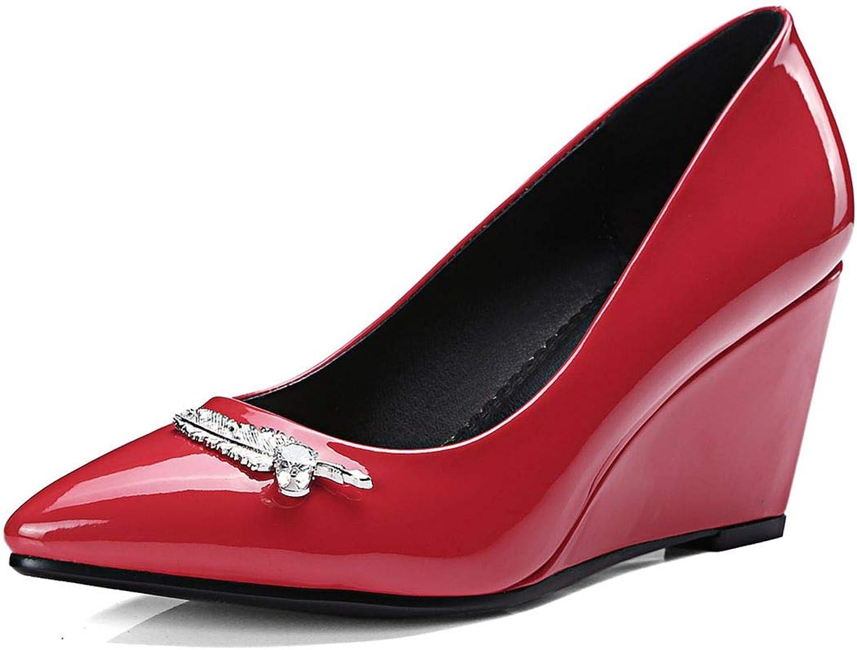 Vitalo Womens High Heel Wedge Pumps Pointed Toe Rhinestone Court shoes
