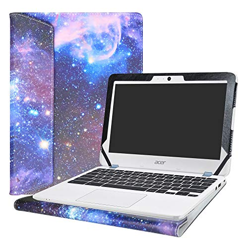 Alapmk Protective Case Cover For 11.6' Acer Chromebook 11 C771T C771 & Chromebook Spin 11 CP311-1HN R751T CP511-1HN R751TN & Chromebook 11 N7 C731T C731 CB311-7H CB311-7HT Series Laptop,Galaxy