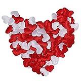 STRIR Confeti de Corazón Rojo y Blanco Confeti de Papel para Decoración de Mesa de Fiesta de Día de San Valentín Boda, 200 unids / 400 unids (200 * rojo 200 * blanco)