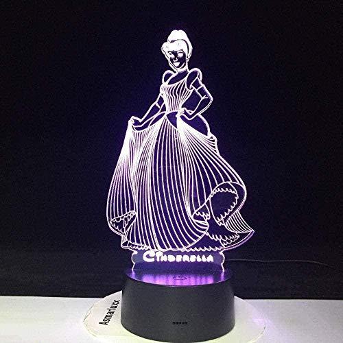 LWYX Figura de luz nocturna 3D ilusión luz nocturna led luz para decoración del hogar cambio de color regalo para niños lámpara inteligente táctil 7 colores lámpara de juguete para niños regalos