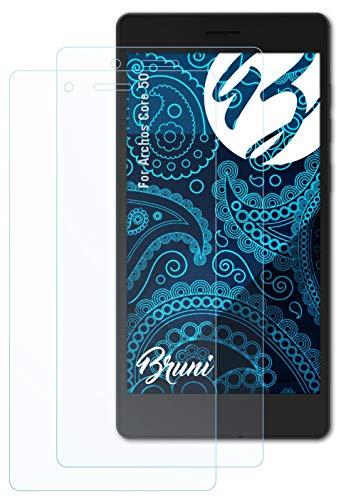 Bruni Schutzfolie kompatibel mit Archos Core 50 Folie, glasklare Bildschirmschutzfolie (2X)