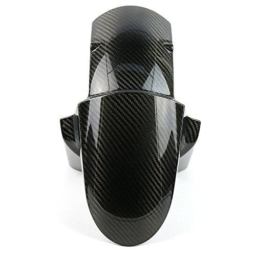 WZJN Schwarz Motorrad-Carbon-Faser-Kotflügel vorne für Kawasaki Z800 Z1000 2014-2017, Splash Schlamm Staubschutz Kotflügel Reifen-Abdeckung