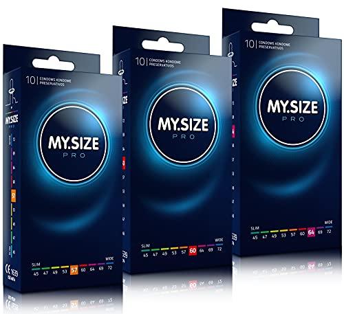 MY.SIZE PRO Kondomset Größe 4,5,6-57,60,64mm, 3x10 Stück - Die neue Generation MY.SIZE Kondome