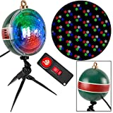 LightShow 61 Effects Christmas LightShow Projection SnowFlurry with Remote-Snowflake LED