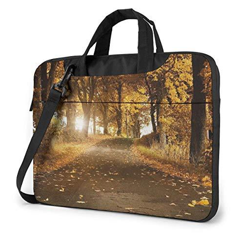IUBBKI Laptop Case Computer Bag Sleeve Cover Autumn Forest Waterproof Shoulder Briefcase 13 14 15.6 Inch