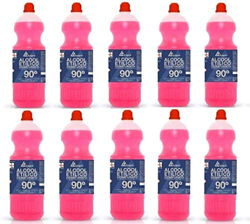 Alcopro Alcool éthylique dénaturé 90° - 10 flacons de 1 litre