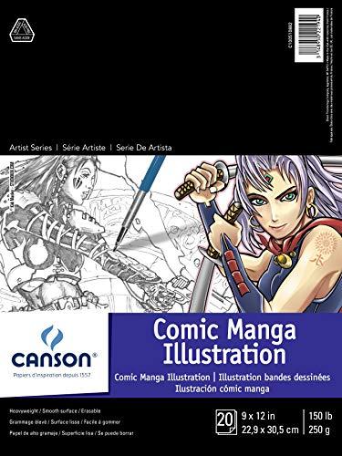 Canson Artist Series Comic Manga Illustration Pad, 9