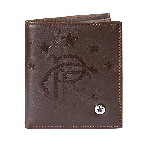 Rangers FC Wallet Faux Leather Luxury Brown OFFICIAL Football Gif